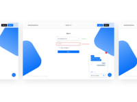 sign in / sign up ui/ux design