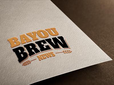 Bayou Brew News Logo louisiana barley news brew bayou black gold baton rouge logo design logo