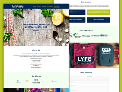 Lemonade Creative Website