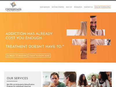 Crossroads WIP treatment addiction recovery orange gradient website design baton rouge louisiana graphic design web design web design website dezinsinteractive