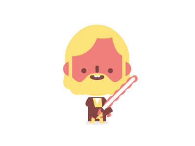 Obi-Wan Kenobi character cute red vector film lightsabre obi wan star wars starwars