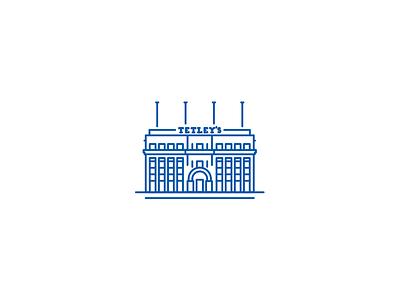 Tetley Icon  yorkshire tetley illustrator landmark leeds line vector mark icon