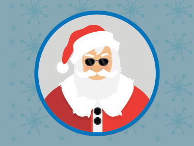 Santa is in the House holiday illustration