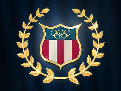 Team USA Olympic Badge illustrator vector gradient mesh icon gloss debut first shot sharp patriotism flare design media illustration badge olympics gold london 2012 usa us team usa red white blue america