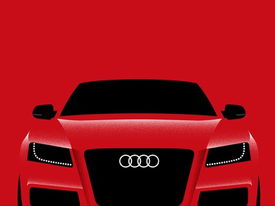 #9 illustration audi car a5 s5 poster series negative red vehicle