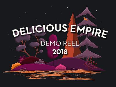 Demo Reel 2018 Title Card title card illustration