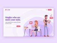 CUPIDIFY - Online Dating Website Landing page