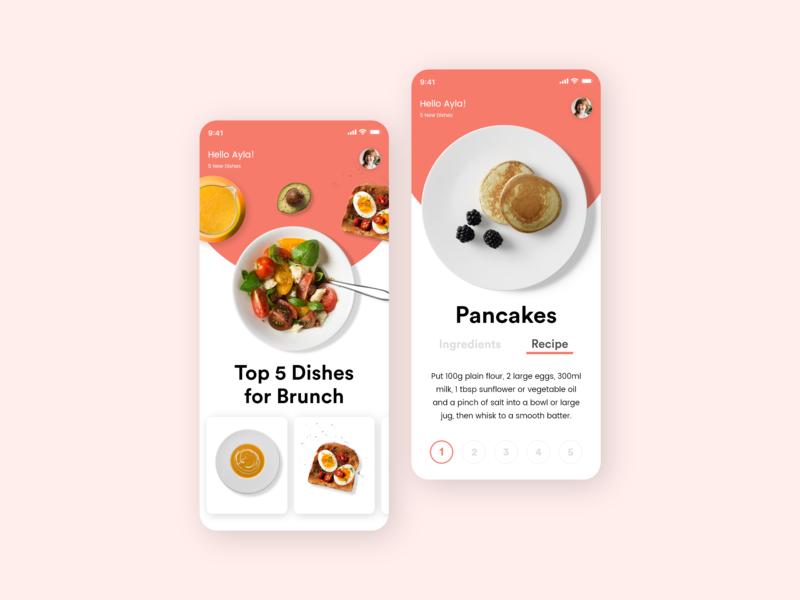 Healthy Food & Recipes App Design