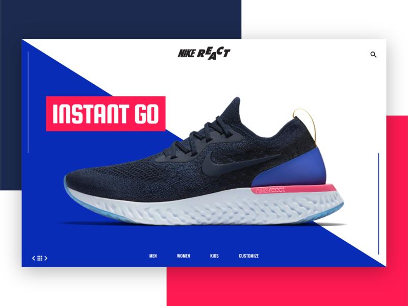 Nike React 2  - Landing Page design Idea
