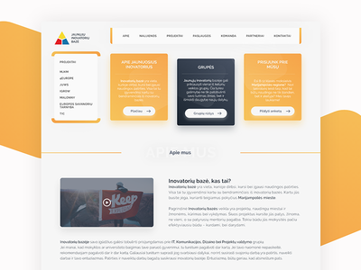 Web design for youth innovations landing page user interface ux ui design ui web interface interaction design