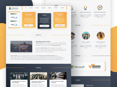Youth innovations landing page design web user interface ux ui