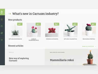 Cactus shop UI web interface web design ux user interface ui minimalistic interaction animation adobe xd