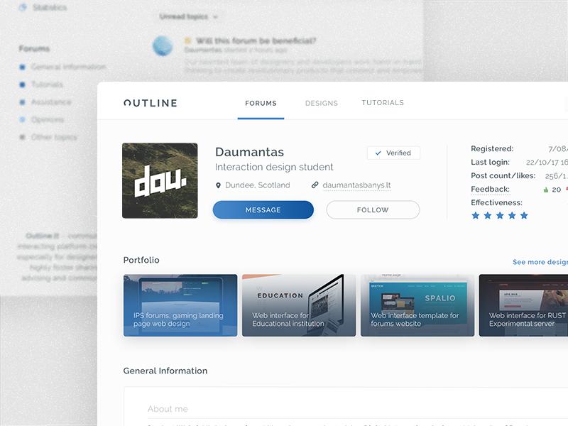 Community platform for designers adobe xd web interface ui design web design ux ui forums