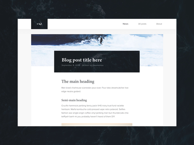 Blog post design landing page simple clean minimalistic minimal post blog post blogging blog adobexd ux design animation web interface interaction web design ui design adobe xd ux user interface ui