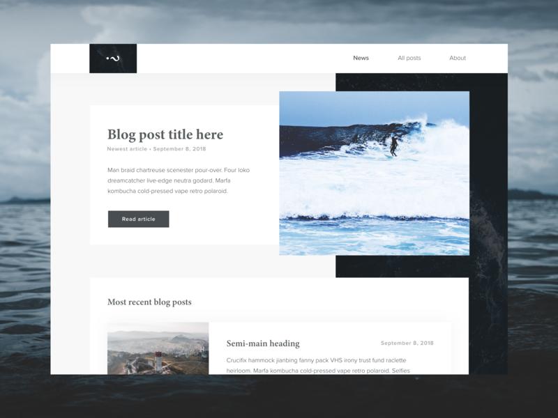 Blog posts list