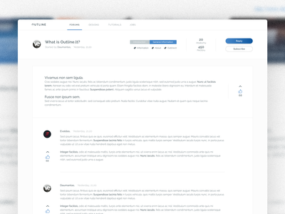 Community platform for designers reddit adobe xd post blog article clean ui ux web interface web design discussions discussion xenforo bbforum invisionpowerboard ipb community forum forum template forums