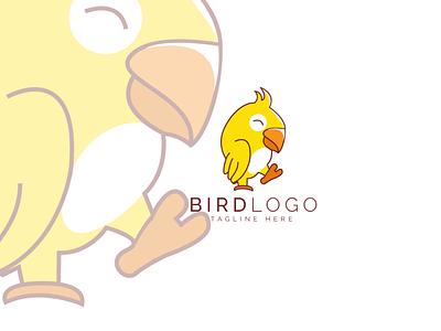 bird logo bird logo parrot yellow logo design minimalist trendy logo logo