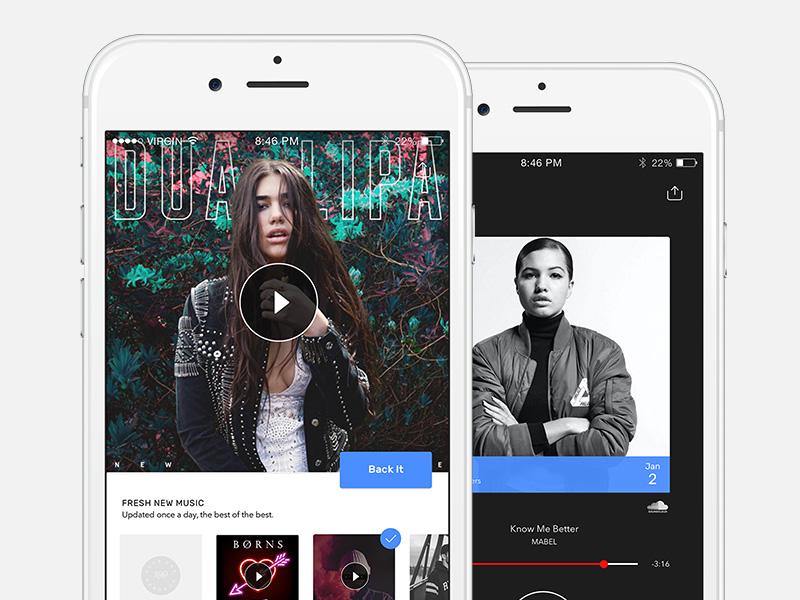 Music App UI Exploration