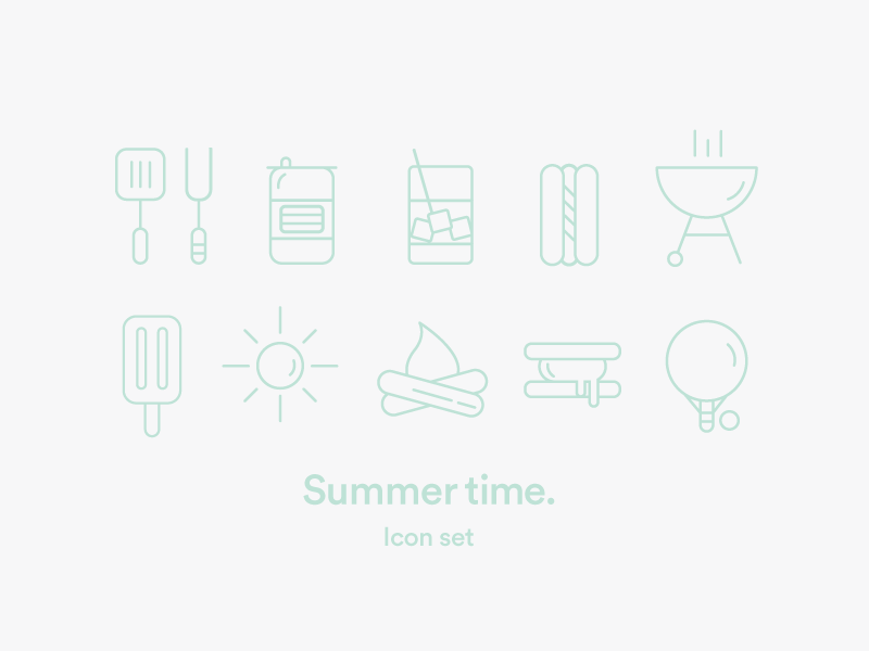 Summer time icons icons