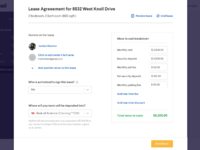 Lease overview  click to add renter s name