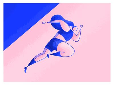 Olympics: Running run highlights stripes textures sports marathon character woman olympian running athlete olympics