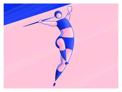 Olympics: Javelin spear highlights woman textures stripes sports olympics olympian javelin throw athlete character