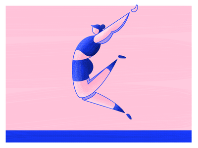Olympics: Long Jump woman textures stripes sports jumping jump olympics olympian marathon texture character athlete