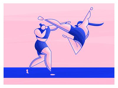 Olympics: Taekwondo / Boxing woman boxing texture textures stripes sports olympian highlights taekwondo kick character athlete