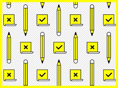 Icons: Creative set pattern design pattern stripes vector outlines postit pen lineart illustration icon set icons icon design