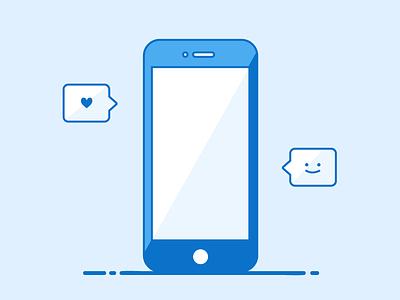 Online appreciation icon design logo icon illustration smartphone emoji heart outlines vector design iphone phone