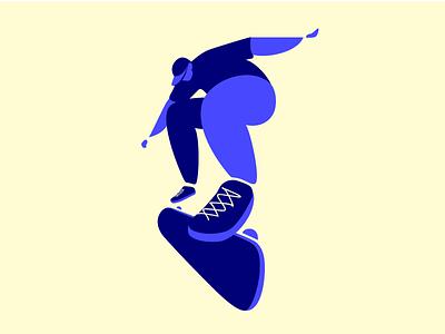 Skater #2 character design flat design perspective ollie flat vector flip character design illustration skateboard skater