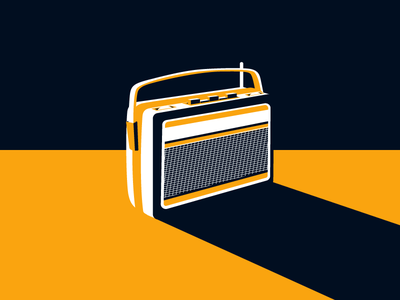 Radio icon media music stereo old radio illustration vector contrast retro radio