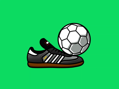 Keepie Uppies emblem flat graphic design flat design badge logo icon illustration shoe cleat sports soccer