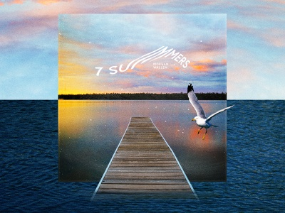 7 Summers summertime summer dock lake life water seagull michigan sea country music song cover album art design graphic design lake digital digital graphic digital art music country morgan wallen