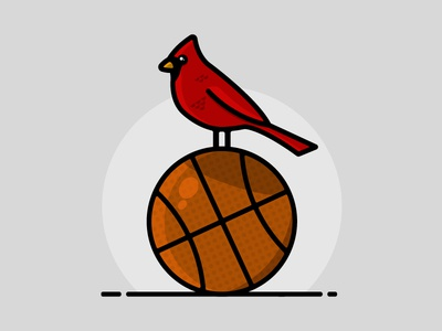Go Cards! minimalism graphic design sports icon cardinal drawing illustration kentucky louisville college basketball college basketball