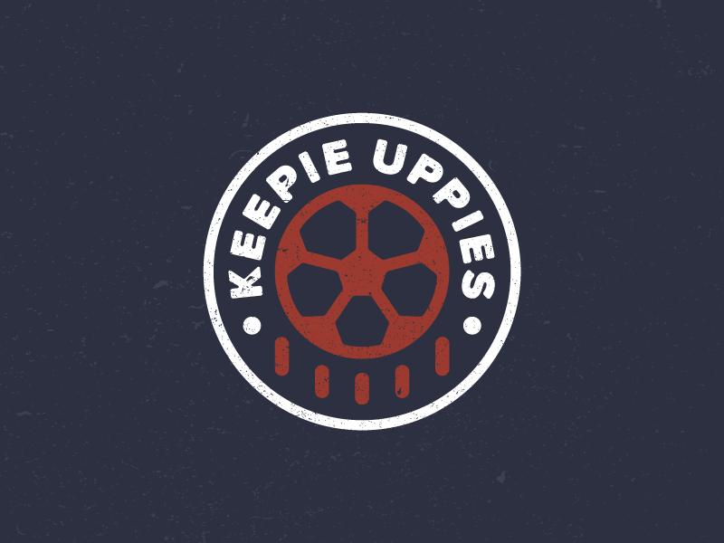 Keepie Uppies emblem badge identity design flat illustration drawing icon logo sports soccer juggling