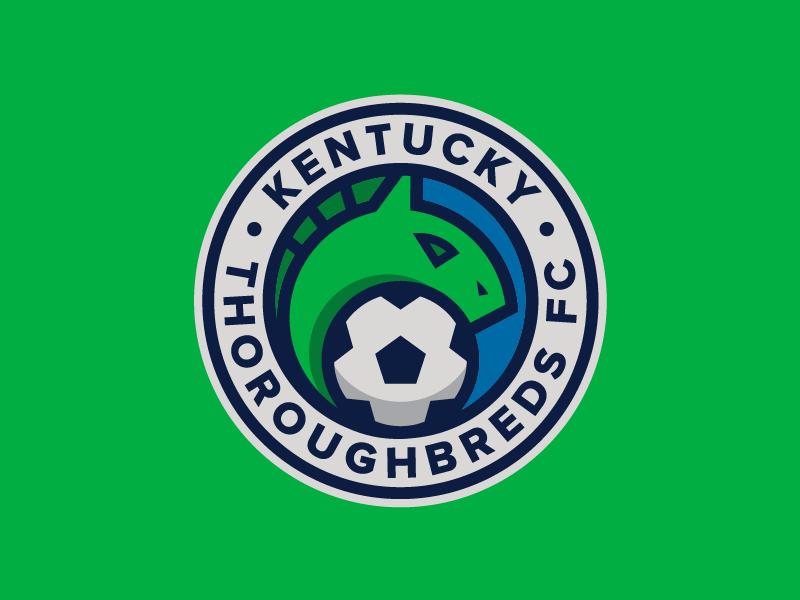 Kentucky Thoroughbreds FC emblem badge identity design flat illustration drawing icon logo sports soccer kentucky
