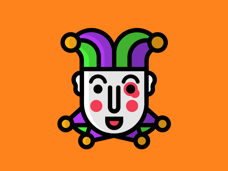 Jester crown medieval funny flat simple illustration drawing design icon face kingdom jester