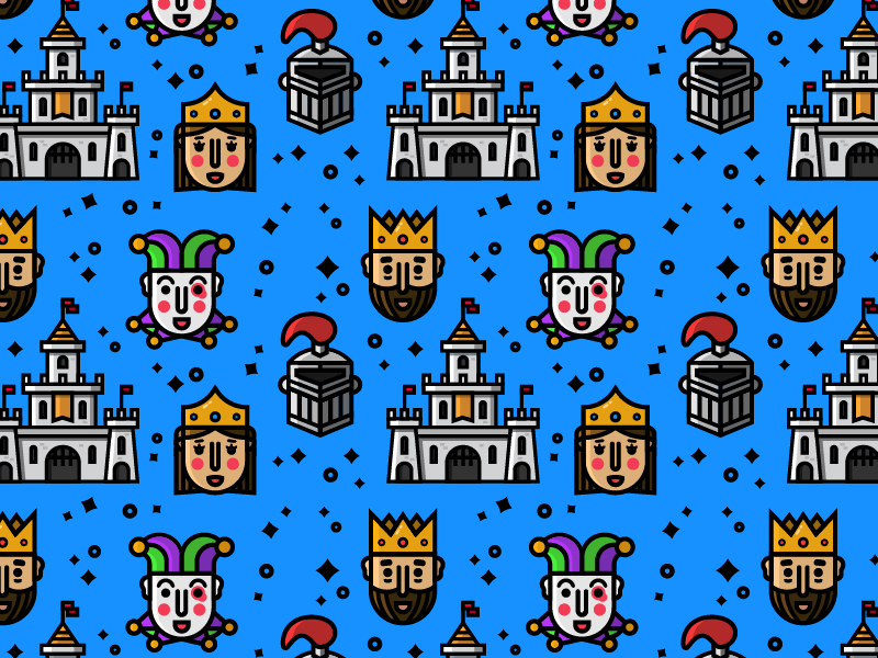 Kingdom pattern dribbble 19