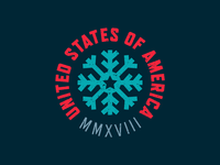 USA Winter Olympics Badge
