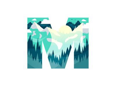 M – Mountains | 36 Days of Type