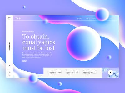 🔵Bits & Blobs dailyui serif uix uiux ui gradients colorfull shape abstract blobs photoshop spheres