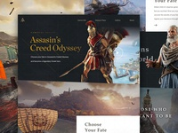 Assassin's Creed Odyssey concept website