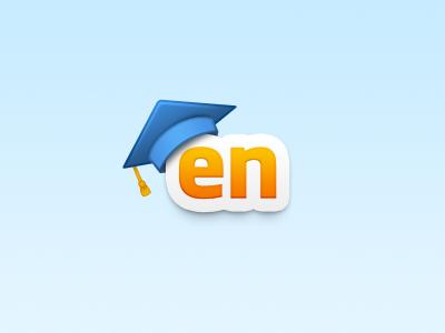 Learn English Logo javin ladish logo branding orange blue education type typography