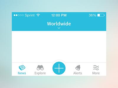 Navigation Stuff javin ladish ui navigation mobile ios tab bar tabs ios7 clean blue icons