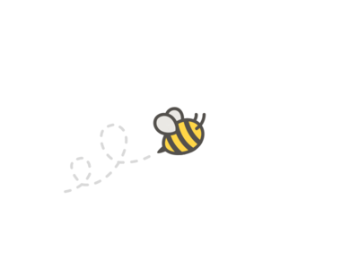 Bee Logo javin ladish logo logomark branding bee insect yellow stripes flying buzz