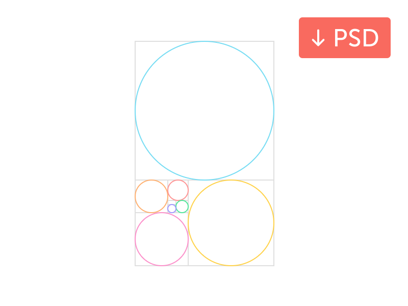 golden ratio free psd by javin ladish dribbble rh dribbble com golden ratio vector ai golden ratio vector free download