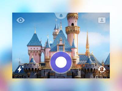 Super Secret Photo Sharing App javin ladish app design ios photoshop colorful purple