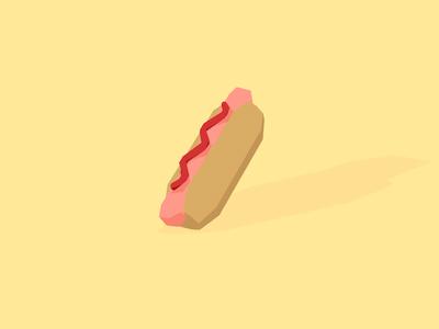 3D Hotdog javin ladish 3d cinema4d c4d low-poly low poly yellow hotdog flat cute