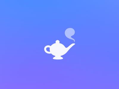 Magic Lamp Logo javin ladish magic genie smoke lamp blue identity logomark logo branding
